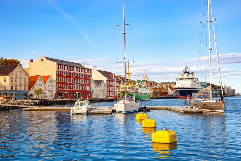 Stadtzentrum von Stavanger lizenzfreie stockbilder