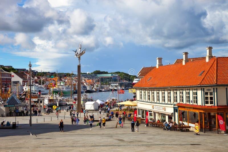 Stadtzentrum von Stavanger lizenzfreie stockfotos