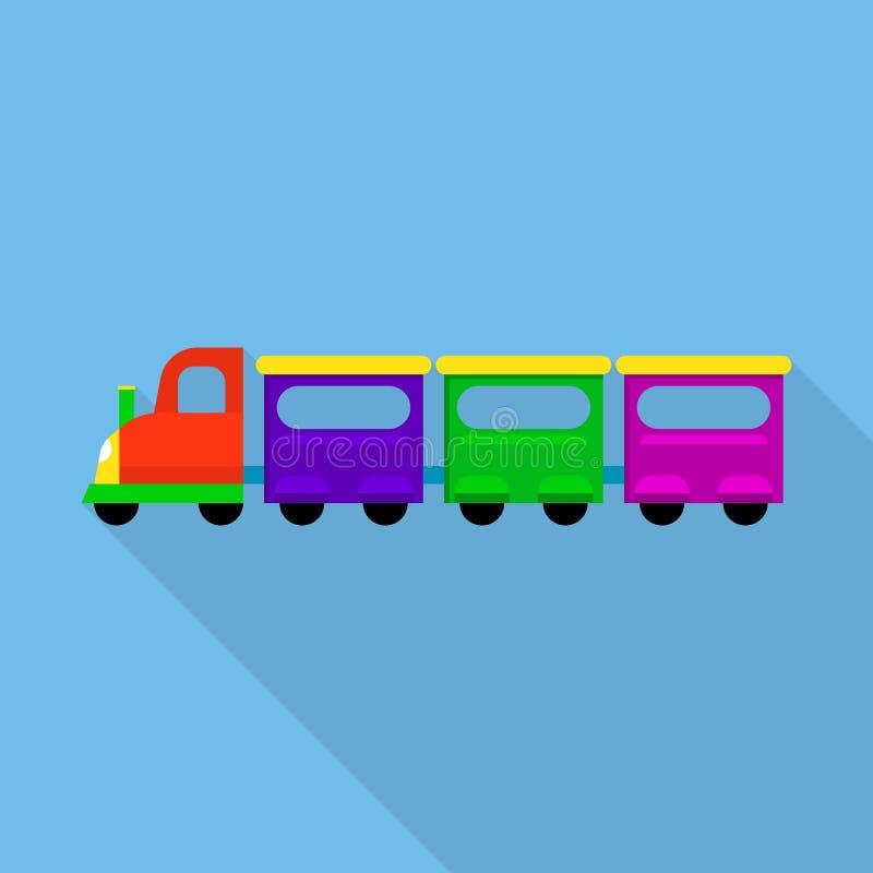Stadtzug-Spielzeugikone, flache Art vektor abbildung