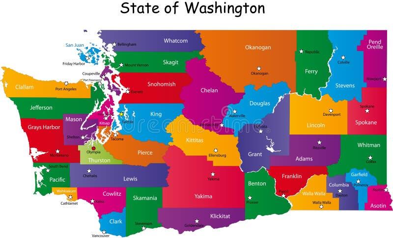 Stae de Washington illustration libre de droits