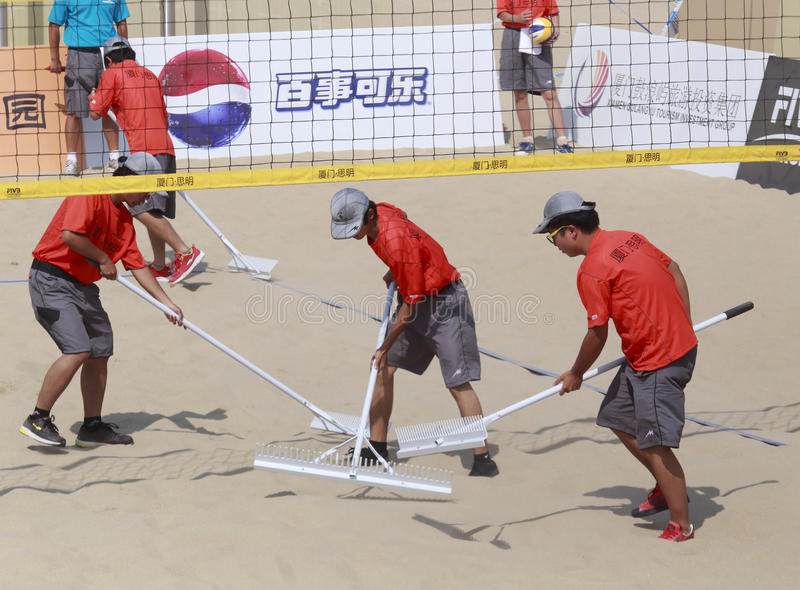 Download Staff Of Beach Volleyball,xiamen,china Editorial Photo - Image: 34628036