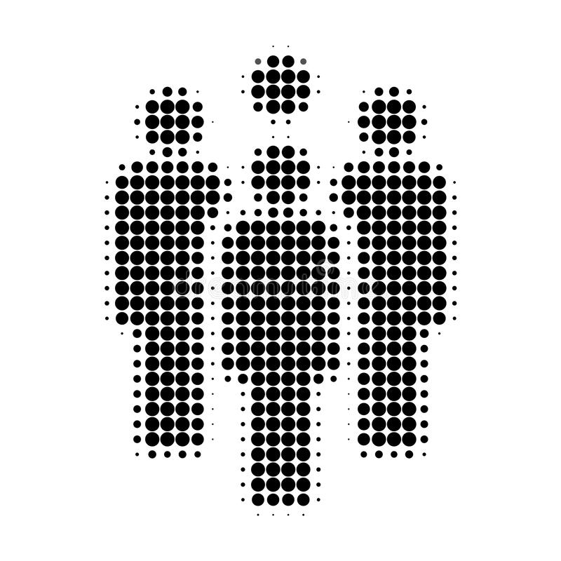 Staff Halftone Dotted Icon vector illustration