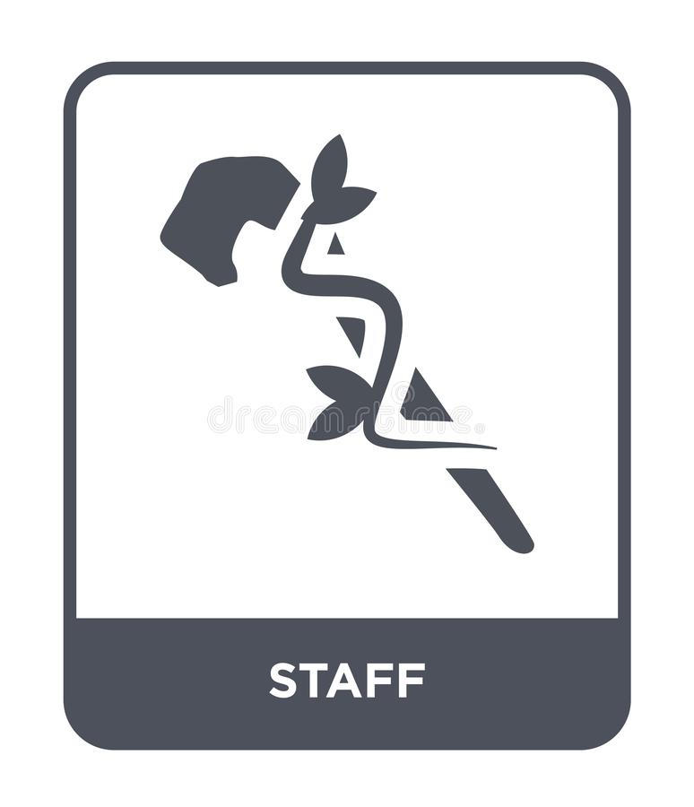 Staff icon in trendy design style. staff icon isolated on white background. staff vector icon simple and modern flat symbol for. Web site, mobile, logo, app, UI royalty free illustration