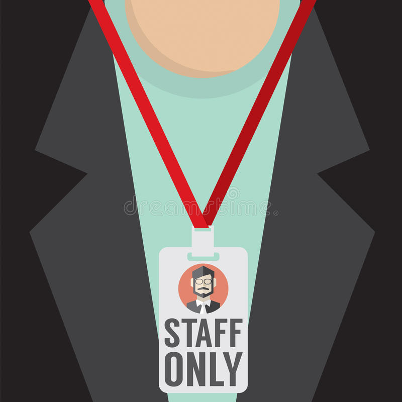 Staff Only Lanyard. royalty free illustration