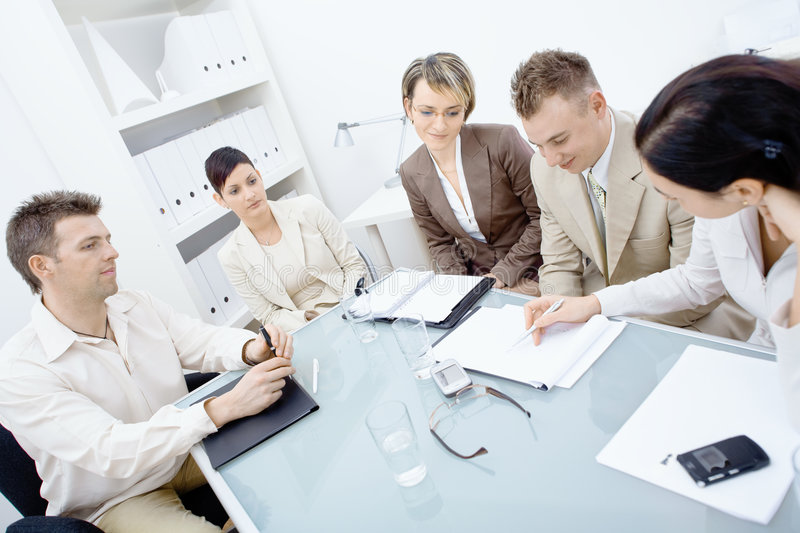 Download Staff meeting stock photo. Image of cooperation, discussion - 9019452