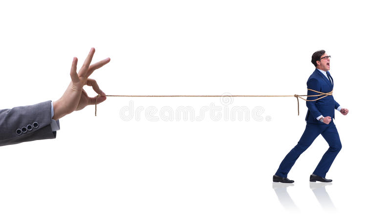The staff retention concept with employee tied up. Staff retention concept with employee tied up stock photos