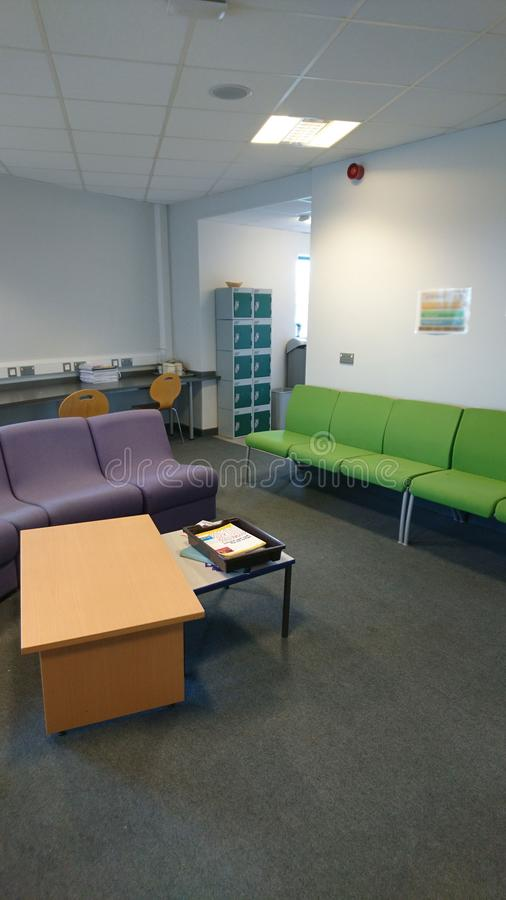 Staff Room. This photo shows a Staff Room in a school in Kent stock image
