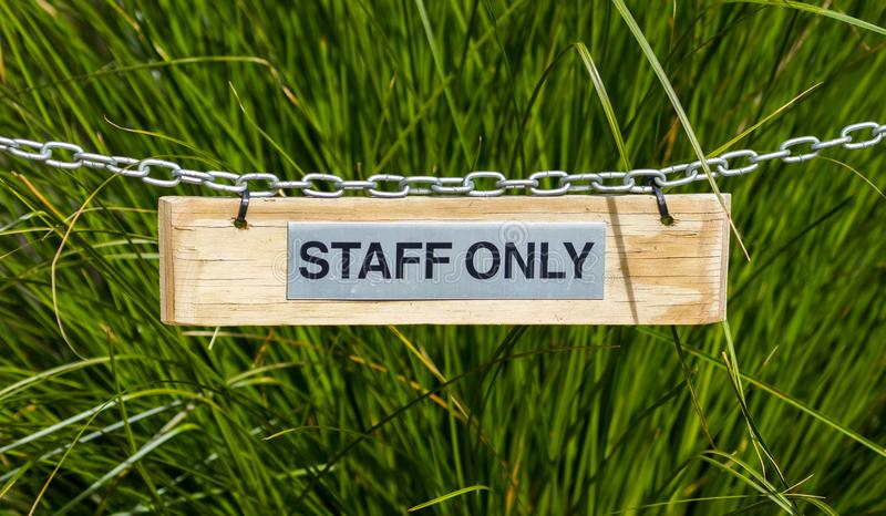 Download Staff Only Sign stock image. Image of sing, security - 114957965