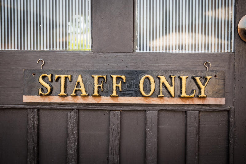 Staff Only Sign royalty free stock photos