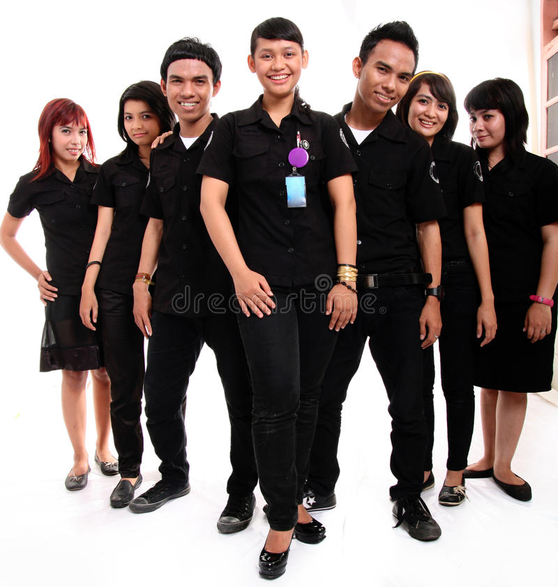 Download Staff in uniform stock image. Image of cheerful, uniform - 11907573