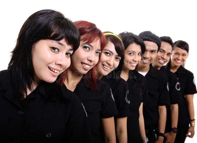 Download Staff in uniform stock image. Image of happy, pose, background - 11907635