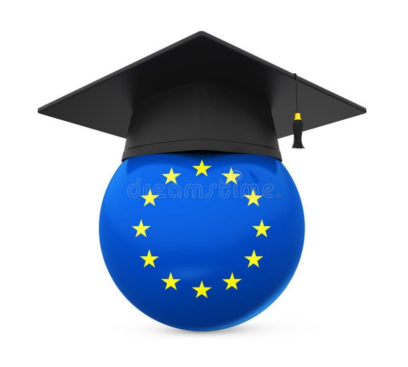 Staffelungs-Kappe mit Flagge der Europäischen Gemeinschaft stock abbildung