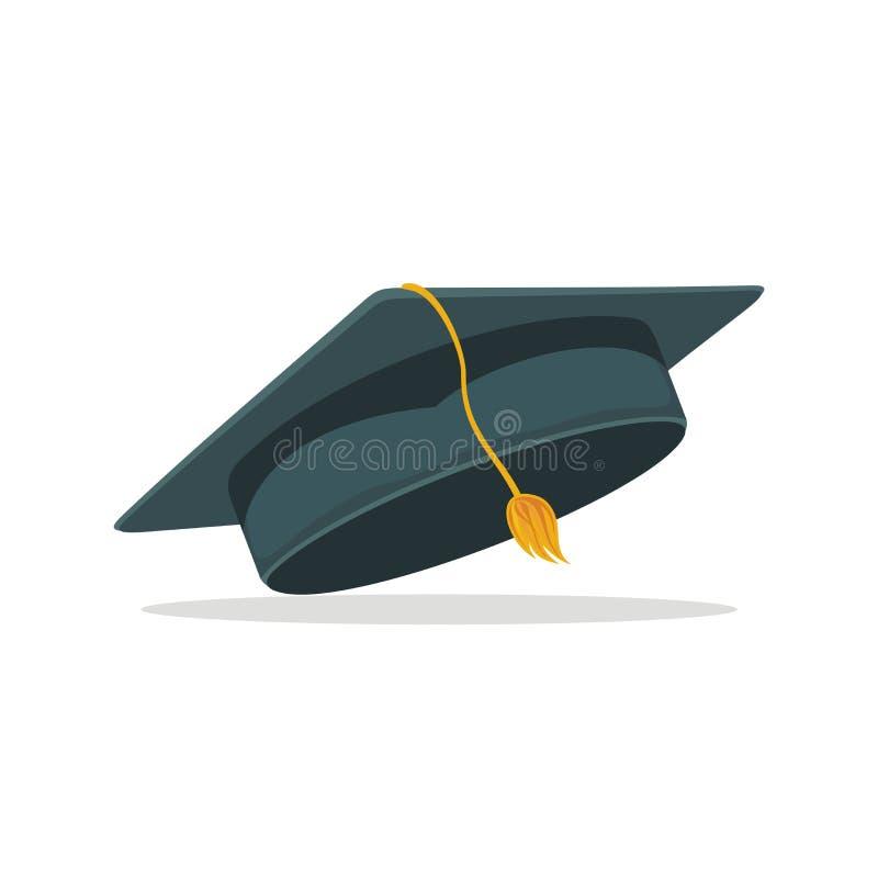 Staffelungshut oder -kappe mit Quastenvektorillustration lizenzfreie abbildung