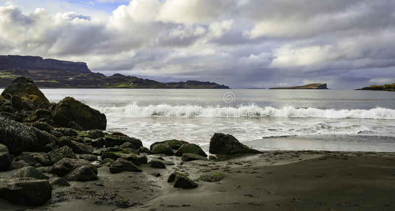 Staffin beach stock images