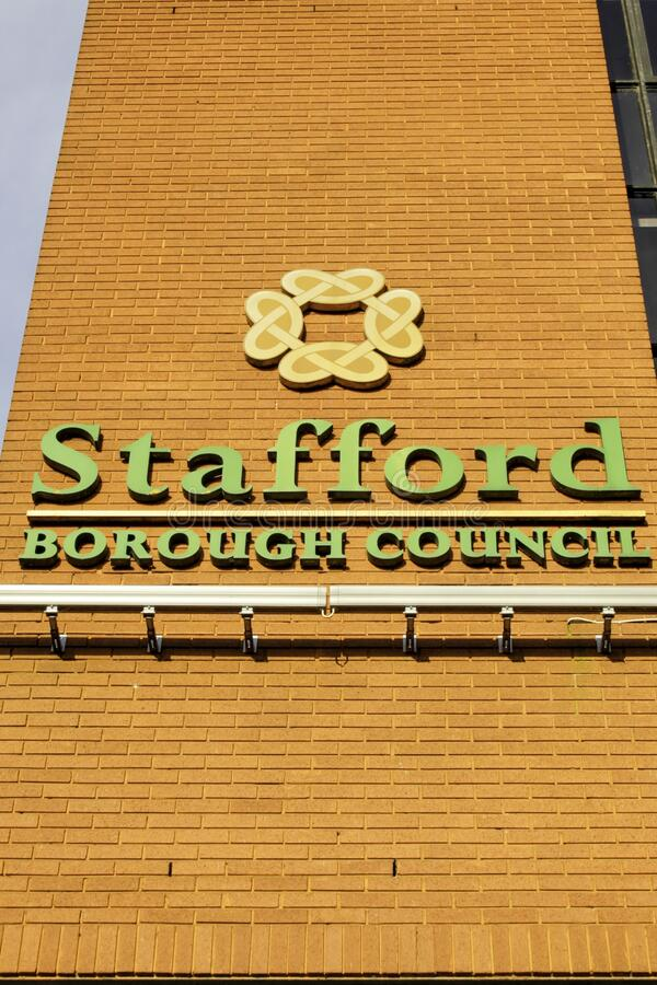 Stafford, UK Borough Council. Stafford Borough Council located in Stafford, UK stock images
