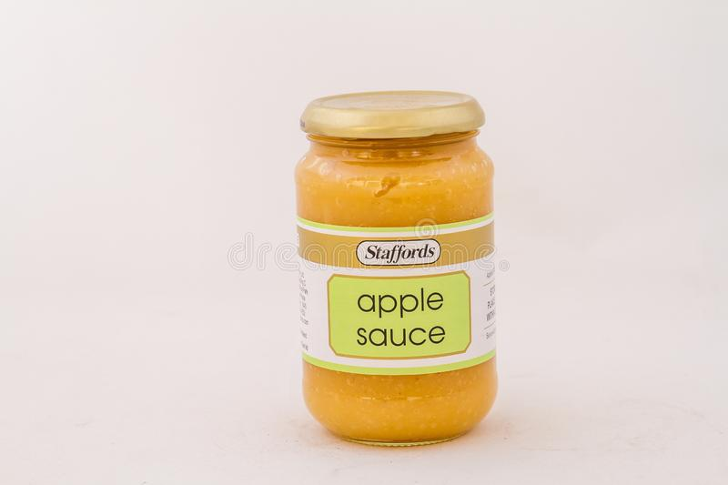 Staffords apple sauce available in South Africa stock photography