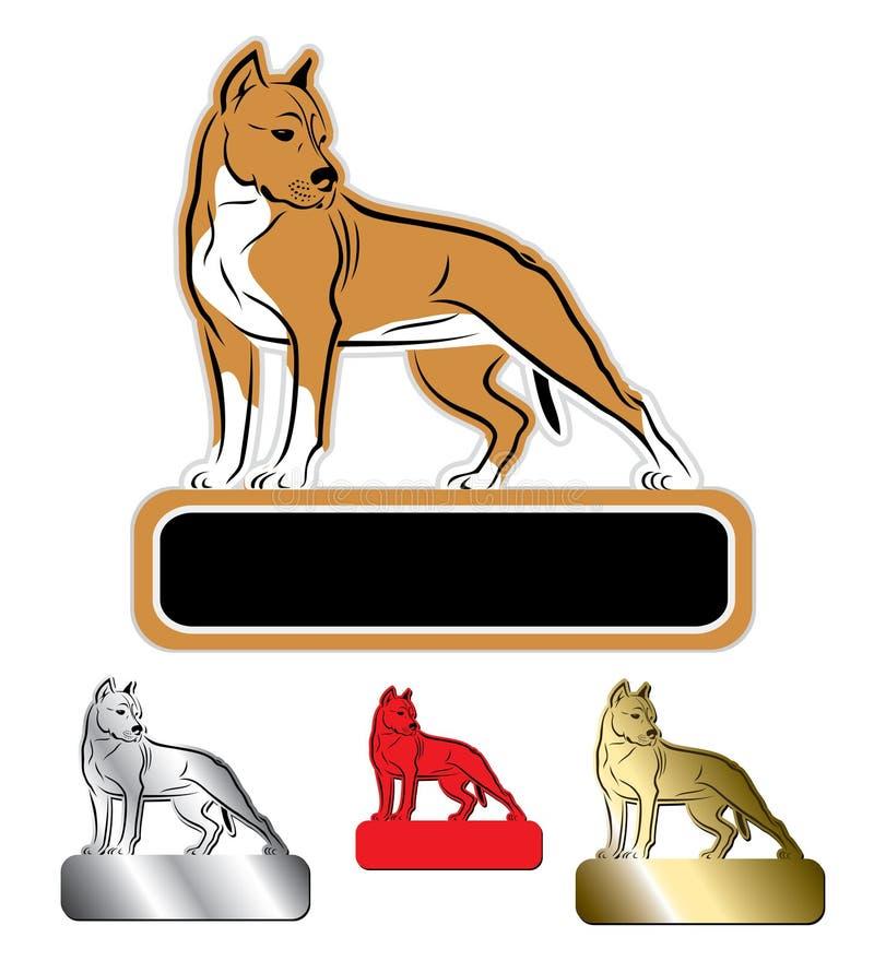 Staffordshire terrier royaltyfri illustrationer