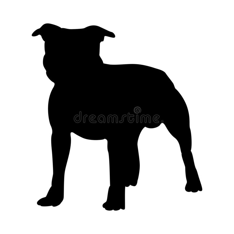 Staffordshire Terrier Dog Silhouette royalty free illustration