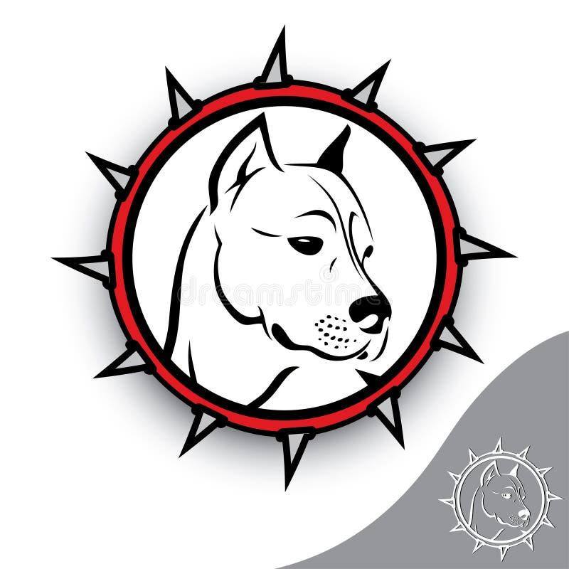 Staffordshire terrier sign vector illustration