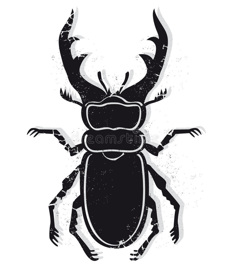 Stag beetle vector stock illustration