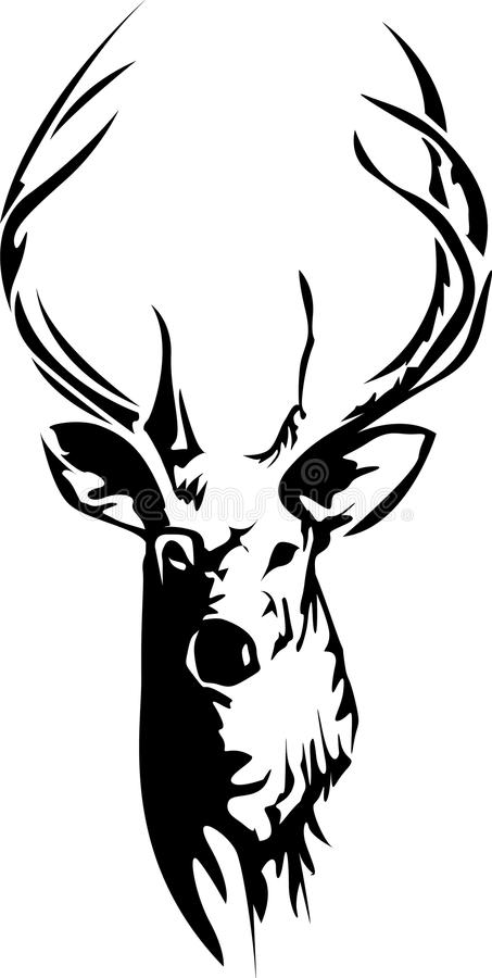 Free Stag Head In Side Light Effect Royalty Free Stock Image - 96501336