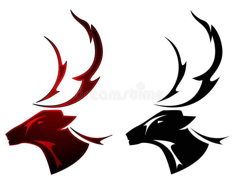 stag tattoo design stock vector illustration of symbol 19316831. Black Bedroom Furniture Sets. Home Design Ideas
