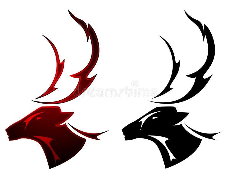 stag tattoo design stock vector illustration of symbol 19316831. Black Bedroom Furniture Sets. Home Design Ideas