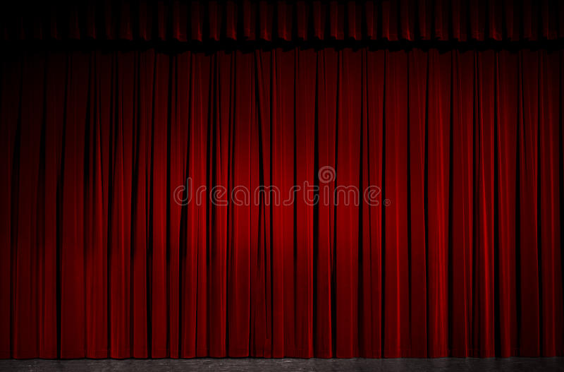 Download Stage stock image. Image of spot, theater, velvet, stage - 12741593