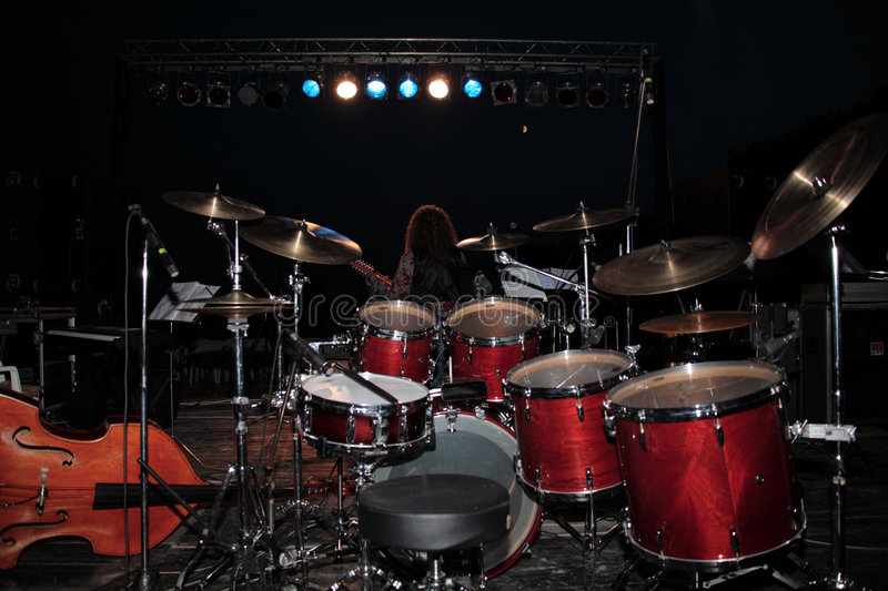 Download Stage stock photo. Image of sound, cymbals, drums, guitar - 1349084