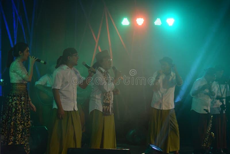Action Band Congrock 17 Semarang stock image