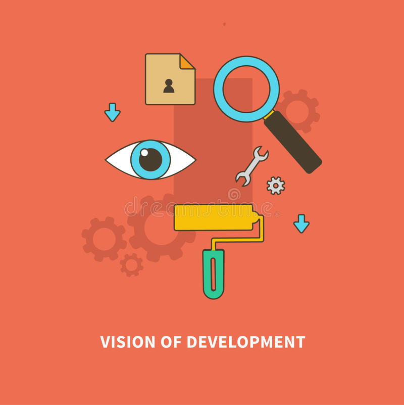 Stage Business Process is Vision of Development stock illustration