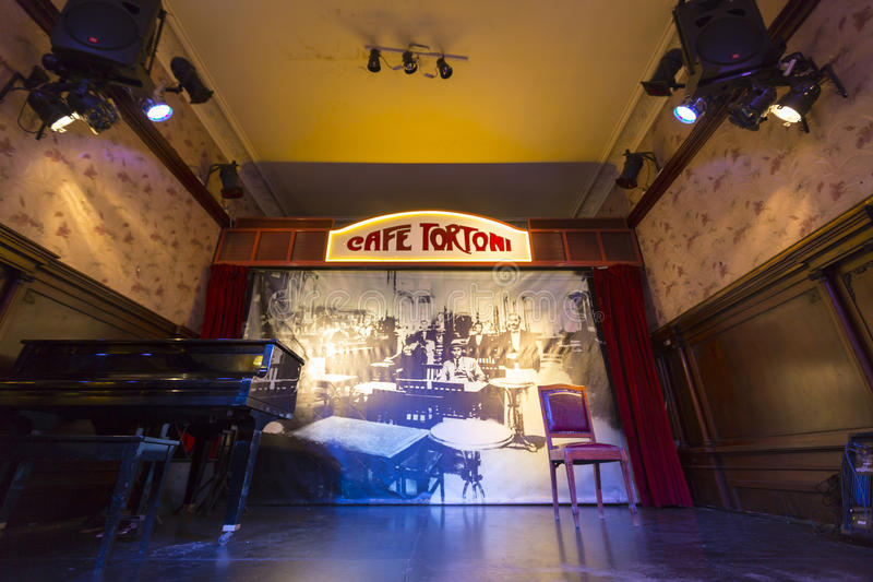 Stage of the Cafe Tortoni in Buenos Aires, Argentina royalty free stock images