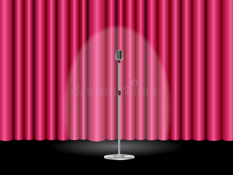 Stage with curtain vector illustration