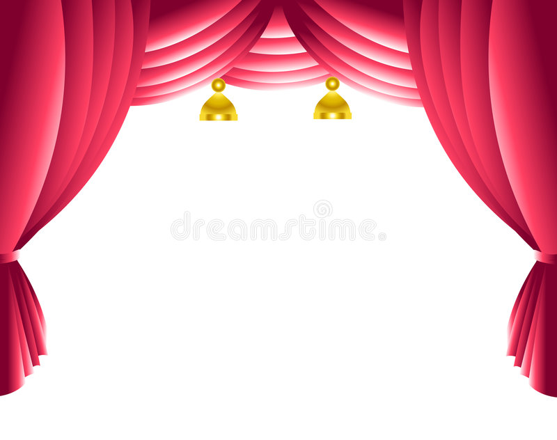 Download Stage curtain stock image. Image of architecture, background - 9255799