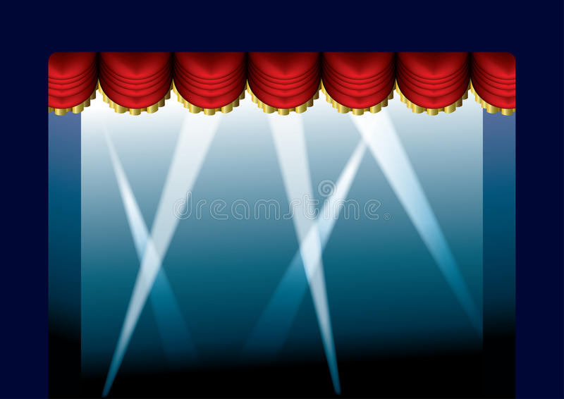 Download Stage Curtain opened stock illustration. Image of stage - 13298536
