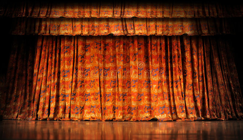 Download Stage Curtains stock photo. Image of background, speaker - 23243862