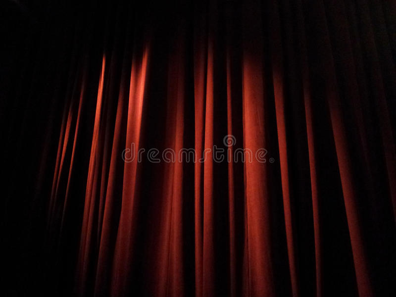 Stage Curtains. Closed stage curtains before a show