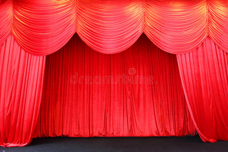 Stage Curtains Royalty Free Stock Photography