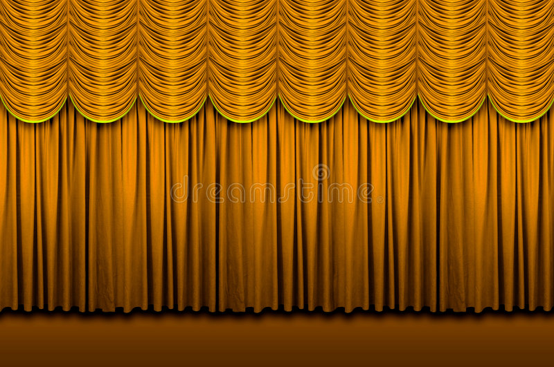 stage curtains stock photo image 4150040
