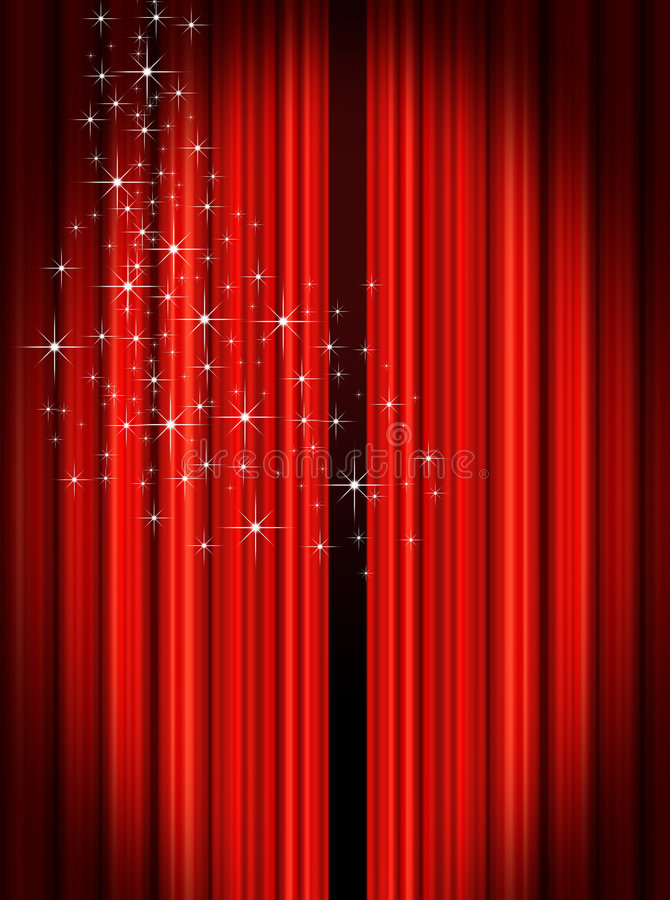 Download Stage Curtains stock illustration. Illustration of orchestra - 6835322