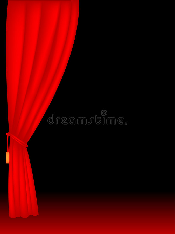 Download Stage Curtains Stock Vector Illustration Of Light Black