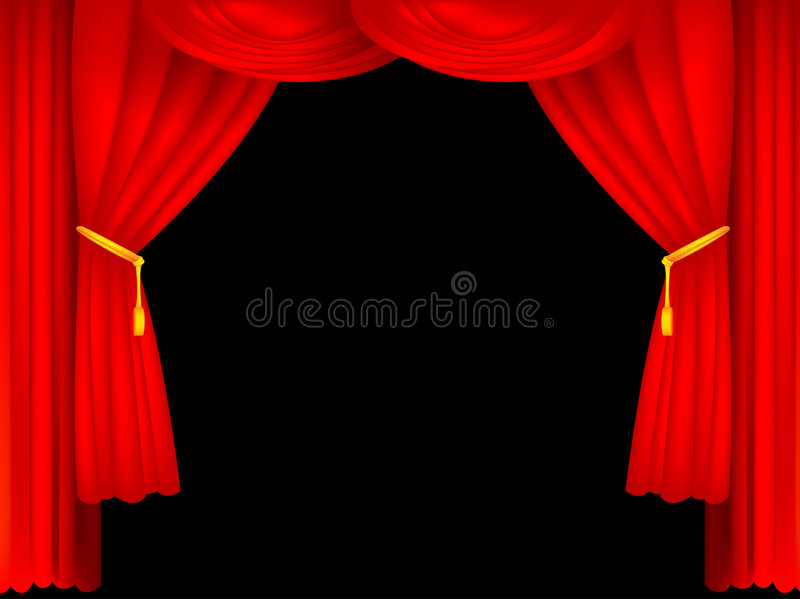 Download Stage curtains stock vector. Image of arts, classical - 7953799