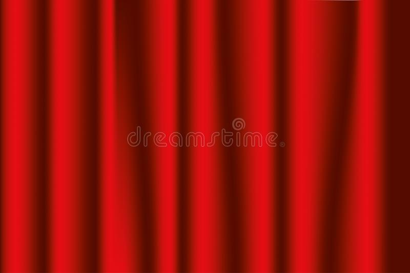 Stage curtains red. Opera or theater background. Vector. stock illustration
