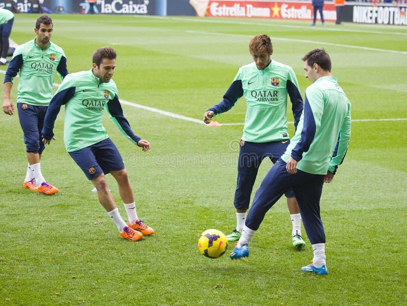 Stage de formation de FC Barcelona photo libre de droits
