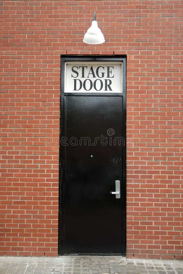 Download Stage Door stock image. Image of performing, exit, leading - 817547