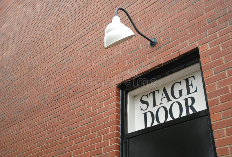 Stage Door royalty free stock photography