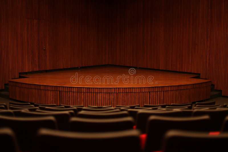 Stage & empty chairs