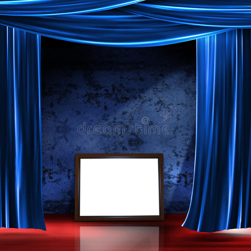 Stage frame stock image