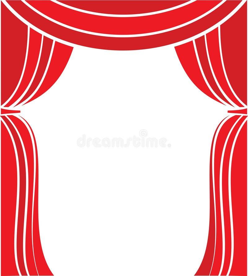 Stage gardinen vektor illustrationer