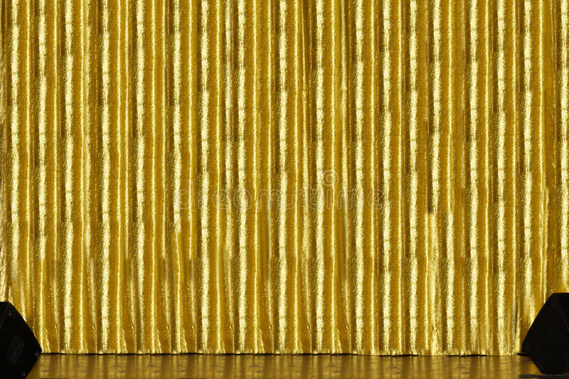 Download Stage With Golden Curtain Stock Images - Image: 16319724